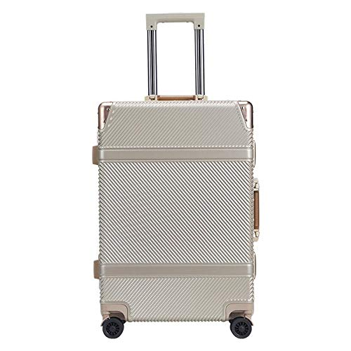 SFBBBO luggage suitcase aluminiumspinner travel suitcase hand luggage trolley with wheel 20' Golden
