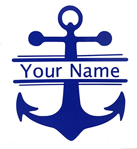 Personalized Nautical Anchor Name Vinyl Decal - Custom Boating Bumper Sticker, for Tumblers, Laptops, Car Windows