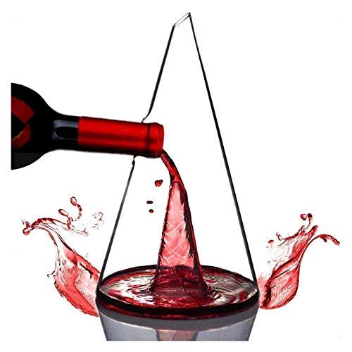 WHZG Decantador de vino de la corona libre de plomo, regalo de vino, torre de cristal Torre de vino tinto CARAFE, Accesorios de vino, Decantador Regalos de vino Crystal 718