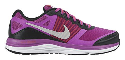 Nike Dual Fusion X (GS), Zapatillas para Niñas, Negro Plateado Morado, 36 EU