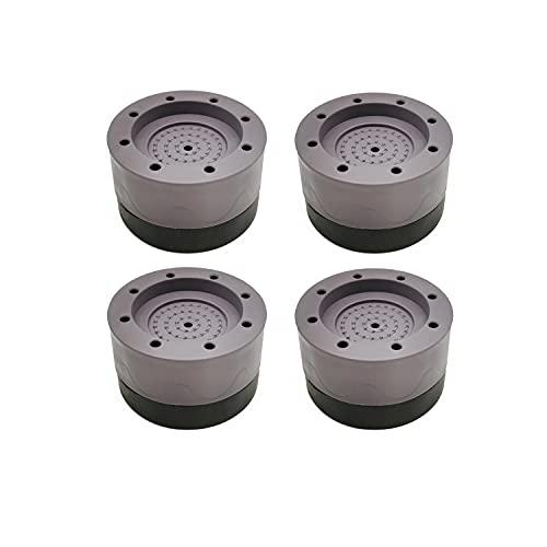 LINSOCLE 4 Pièces Patins Anti Vibration, Patin Anti Vibration Machine à Laver, Universel Pieds Stabilisateur Piédestal pour Machine à Laver et...