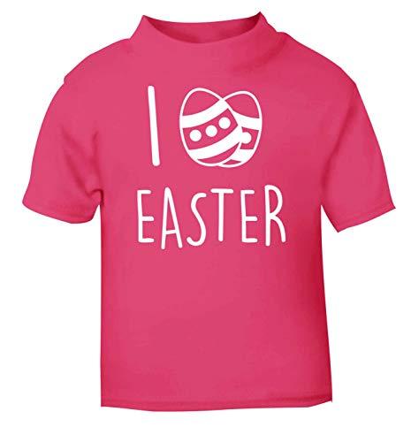 Flox Creative T-Shirt pour bébé Inscription I Love Easter - Rose - 2 Ans