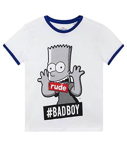 Die Simpsons Jungen T-Shirt Weiß 128