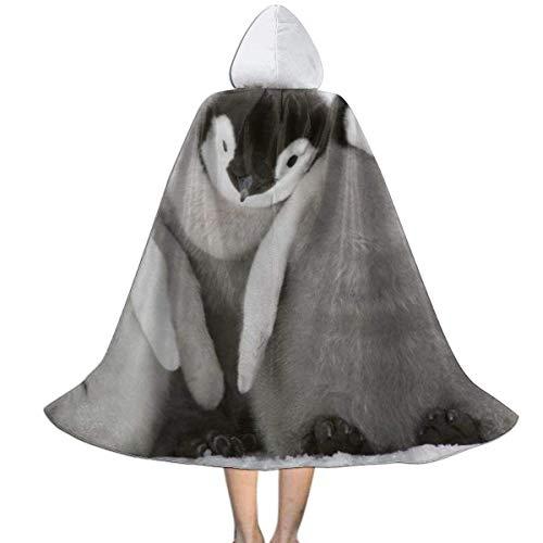 WEIPING Muchos pinginos Linda Capa navidea con Capucha para nios |Capa Infantil con Capucha para Halloween, Disfraces, Cosplay y ms Negro