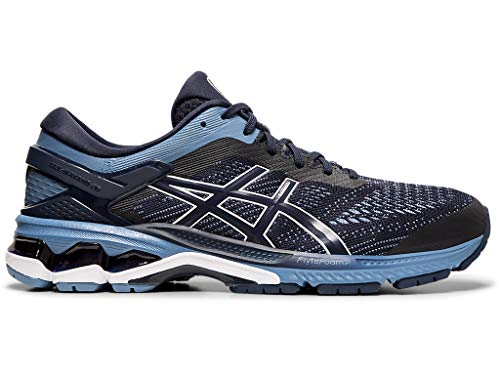 ASICS Men's Gel-Kayano 26 Running Shoes, 12W, Midnight/Grey Floss