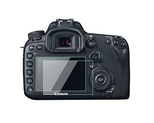 Canon EOS 7D Mark II/77D pellicola proteggi schermo LCD da 0.33mm di spessore durezza 9H vetro temperato copertura perfetta per fotocamera digitale Canon EOS 7D Mark II / 77D 2confezione