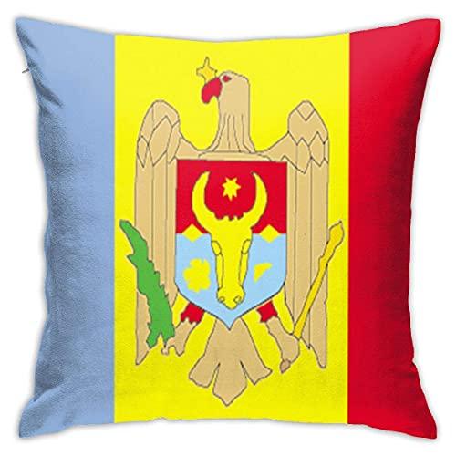 N \ A Moldawien-Flagge, modischer Kissenbezug, dekorativer Kissenbezug