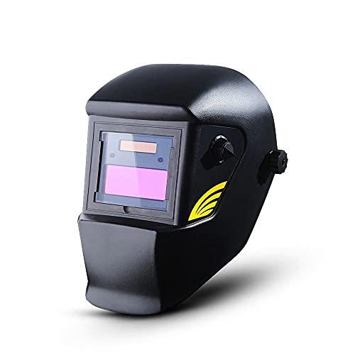 Máscara de soldadura Black Solar Auto Oscuridad Soldador Tapa de soldadura Lente/Vidrios Para Máquina De Soldadura/Casco De Plasma Casco Eléctrico
