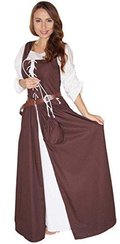 MAYLYNN 14261-S - Mittelalter Kostüm Magd Bäuerin Celia Kleid, Größe S