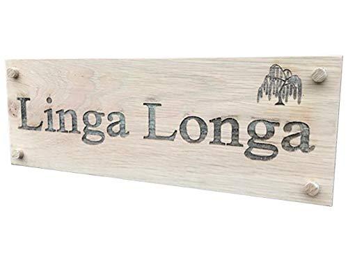 De-Sign d'une Plaque Large 400 mm x 140 mm personnalisé gravé en Bois de chêne Plaque de Maison Plaque Numéro de Porte Plaque de Rue pour l'Assurance Qualité