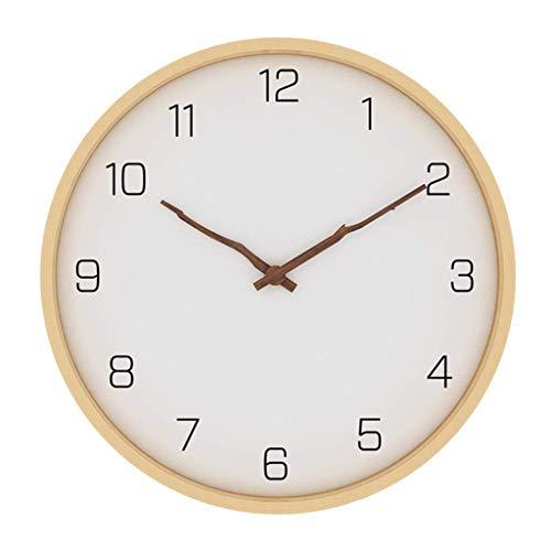 WEHOLY Holzrahmen mit zweifarbigem Glasgesicht, batteriebetrieben mit leiser Bewegung, große dekorative Uhren für Büroschlafzimmer Wohnzimmer Schule Innendekoration, B, 40,8 cm (16 Zoll)