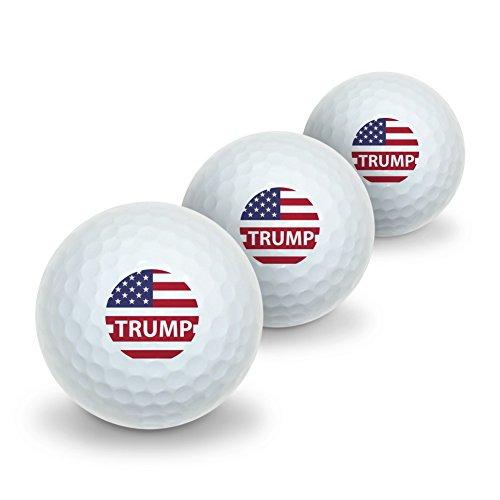 GRAPHICS & MORE President Trump American Flag Novelty Golf Balls 3 Pack