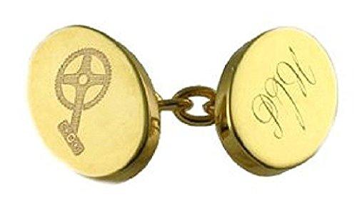 APS Cufflinks Paire gravée personnalisée dorée Boîte à Boutons de Manchettes Chaîne de manivelle pour vélo