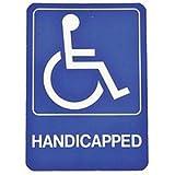 Hy-Ko HANDICAPPED SIGN Handicap Wheelchair Plastic Self-Adhesive 5' x7' NEW D-17