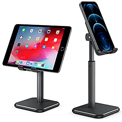 Amazon - 50% Off on  Cell Phone Stand, Anti-Slip Weighted Base, iPhone Stand Holder for Desk with Adjustable Height Angle