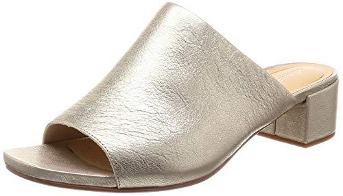 Clarks Orabella Daisy Pantoletten/Clogs Damen Champagne (Gold) - 36 - Pantoffel