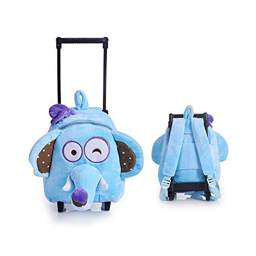Bambini Trolley For bambini a doppio uso Trolley Kindergarten mano push-pull con le rotelle Trascinare Deposito bambino del fumetto zaino a forma di animale Carino Schoolbag Trolley Bookbag bagaglio a