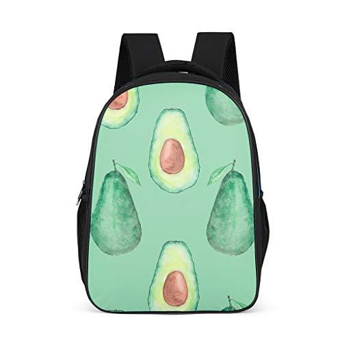 Osann - Zaino per bambini, motivo: avocado con frutta, colore: Verde Grigio grigio Taglia unica