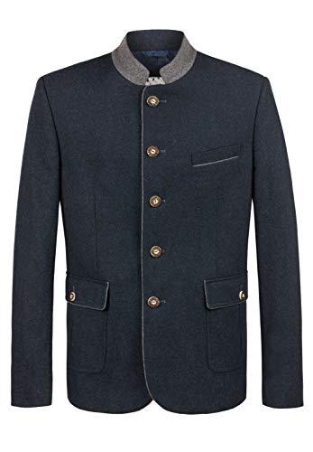 Stockerpoint Herren Justus Business-Anzug Jacke, blau-Schiefer, 46