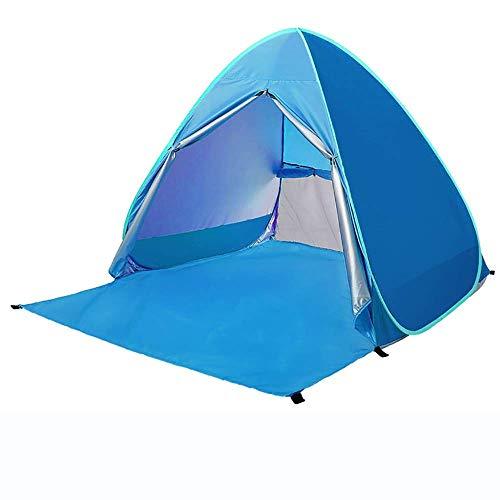 Buiten Strand Zon Onderdak Tenten, Draagbare Automatische Zon Paraplu, Waterdicht/Winddicht Outdoor Cabana, Fit 3-4 Personen voor Camping, Wandelen, Luifel