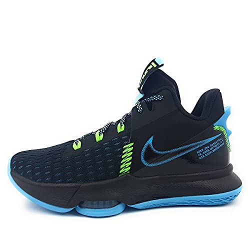Nike Unisex Lebron Witness 5 Basketball Shoe, Black/Lagoon Pulse-Green Strike, 42.5 EU