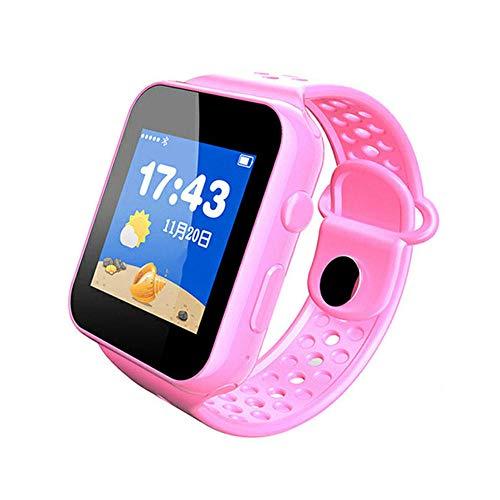 Intelligente Uhr mit 1,44 Zoll Armbanduhr mit personalisiertem Bildschirm Kids Smart Watch HD Touchscreen Smartwatch mit Sprachsteuerung Geschenk für Kinder 52,3 * 40,1 * 14,3 mm+45g-i9 pink