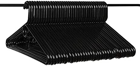 Neaties American Made Black Heavy Duty Plastic Hangers, Plastic Clothes Hangers Ideal for Everyday Use, Clothing Standard Hangers, 36pk