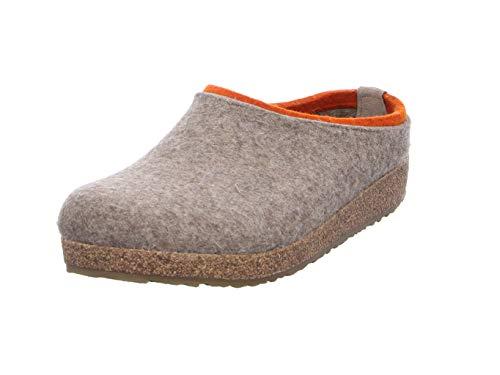 HAFLINGER Unisex-Erwachsene Kris Grizzly Pantoffeln, Beige (Torf 550), 42 EU
