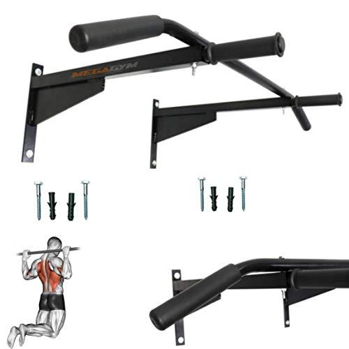 Barra Fixa Para Parede Crossfit Pull-up Bar Com Paralelas COR:PRETO;TAMANHO:ÚNICO;GENERO:UNISSEX