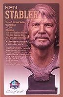 PRO FOOTBALL HALL OF FAME Ken Stabler NFL Bronze Bust Set Card (Limited Edition # of 150)