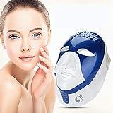 7 Farben Photon LED Maske, Schönheit Lichttherapie Gesichtsmaske mit 168LEDs für Gesicht Hals Anti-falten Akne Entfernung Hautverjüngung Poren schrumpfen Ölige Haut verbessern Akne Remover(Blau)