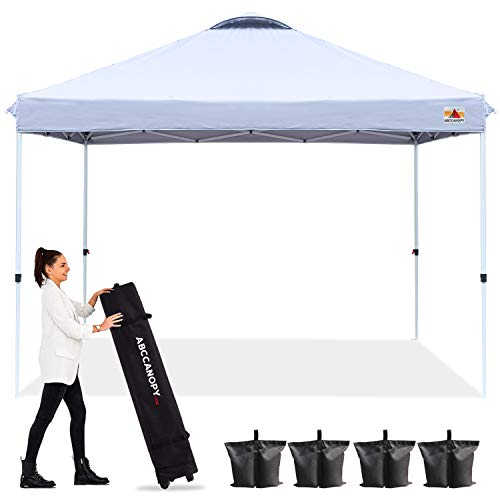 ABCCANOPY 10'x10' Pop up Canopy Instant Outdoor Tent Instant Shelter, Bonus Wheel Bag, White