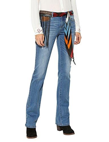 Desigual Jayne Pantalones Vaqueros Bootcut, Azul (Denim Medium Wash 5053), W29 para Mujer