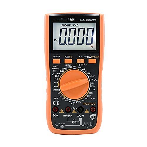 BGQFWB 9808+ Multímetro Digital de Alta precisión 2000uF capacímetro 20MHz Frecuencia de medición de Temperatura e inductancia con