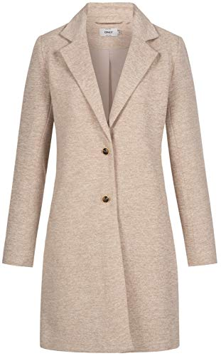 ONLY Damen ONLCARRIE Life Mel Coat OTW NOOS Wollmischungs-Mantel, Etherea, 40