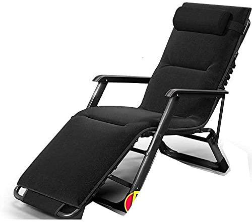 Silla plegable al aire libre reclinable Silla de gravedad cero, silla de gravedad cero con reposacabezas ajustable, silla reclinable de gran tamaño, silla plegable reclinable para dormitorio al aire l