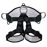 X XBEN Climbing Harness Professional Mountaineering Rock Climbing Harness,Rappelling Safety Harness - Work Safety Belt (Black 2)