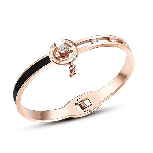 Lente-armband zwarte schaal Engels met diamanten zirkoon armband armband armband armband sieraden vrouw