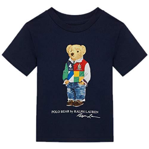Polo Ralph Lauren- Camiseta 323838244002 - Camiseta Azul Oso niño (L (14-16...