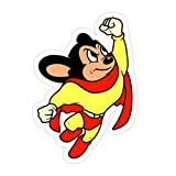 PRINTFIT (3 PCs/Pack) Mighty Mouse 3x4 Inch Die-Cut Stickers Decals for Laptop Book Car Bumper Helmet Water Bottle