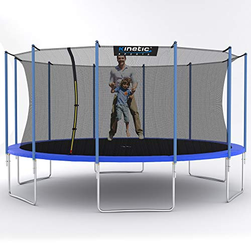 Kinetic Sports Gartentrampolin TPLH16 (Ø 490 cm, blau)