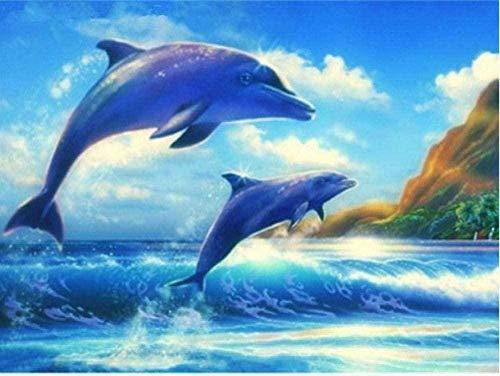 HDHDHD Rompecabezas de 5000 Piezas para Adultos, Rompecabezas, Delfines saltadores, Rompecabezas para Adultos, Juguetes educativos, Rompecabezas de 5000 Piezas, Juguetes antiestrés en 3D