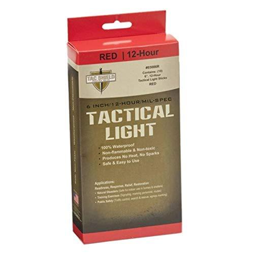 TAC SHIELD 12 Hour Light Stick (10-Pack), Red