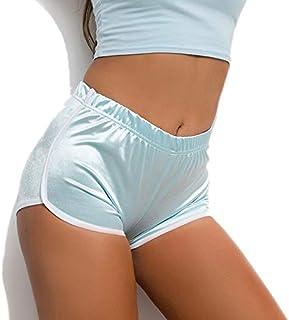 Leepesx Women Summer Shorts Sport Yoga Workout Fitness Running Tight Leggings Striped Slim Hot Pants Beach Gym Casual Pants