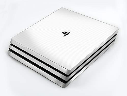 atFoliX Skin compatible con Sony PlayStation 4 Pro PS4 Pro, Sticker Pegatina (FX-Carbon-Alpine), Estructura de carbono / Carbon Foil
