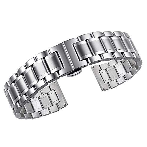 di fascia alta cinturini per orologi 21mm degli uomini d'argento solido...