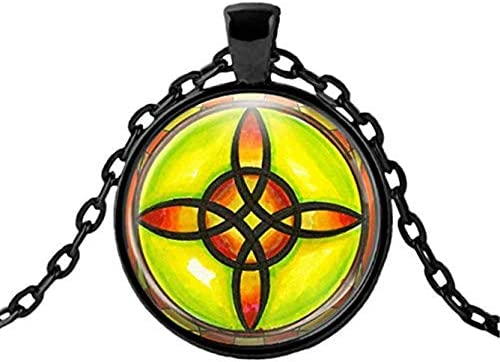 Sunshine Witch s Protection and Binding Spell Knot Jewelry Choose Pendant Necklace Dome Glass product image