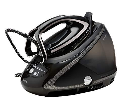 Tefal GV9610 Pro Express Ultimate Plus Dampfbügelstation (8 Bar, 180 g/Min. kontinuierlicher Dampf, 650 g/Min. Extra-Dampfstoß) schwarz