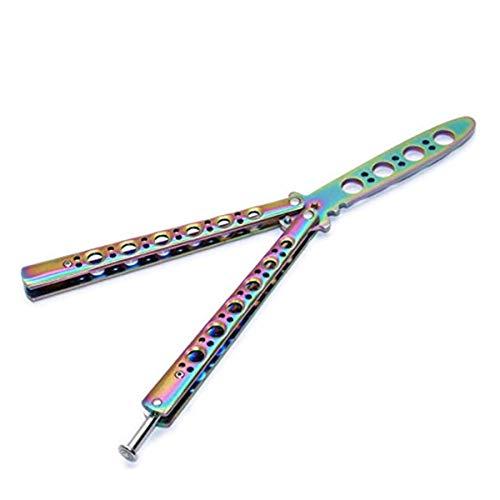 AITE Butterfly-Trainingsmesser, Taschenmesser, Klinge – Nicht echt – kein scharfes Messer - bunt