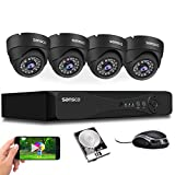 [TRUE 1080p] SANSCO HD CCTV Security Camera System, 4 Channel 5MP DVR